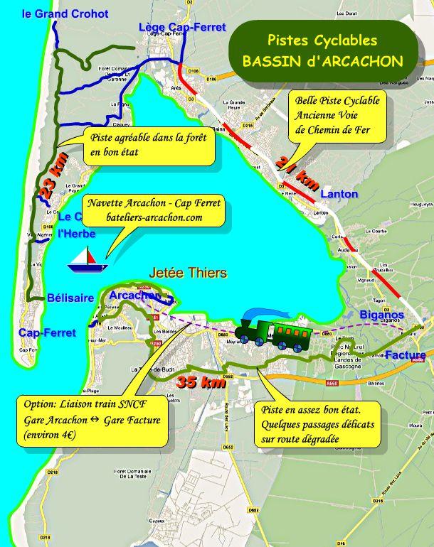Pistes Cyclables Du Bassin D Arcachon
